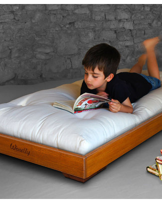 Woodly Pure Montessori Bed SMALL 120x60 cm - Honey - Made in Italy Montessori Beds
