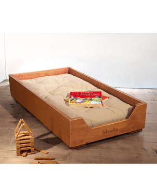 Woodly Stacking Montessori Bed SMALL - Honey - Made in Italy Montessori Beds