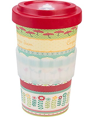 Woodway Bamboo cup, Carpe Diem Red - 500ml Cups & Beakers