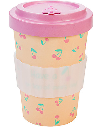 Woodway Bamboo cup, Cherry - 400ml null