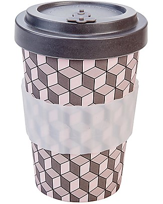 Woodway Bamboo cup, Cubes - 400ml Cups & Beakers