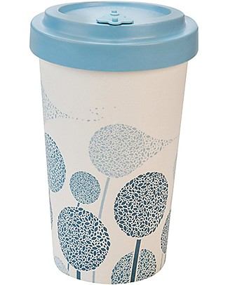 Woodway Bamboo cup, Dandelions Blue - 500ml Cups & Beakers