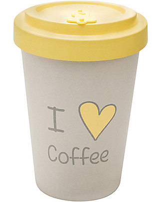 Woodway Bamboo cup, Love Coffee - 400ml Cups & Beakers