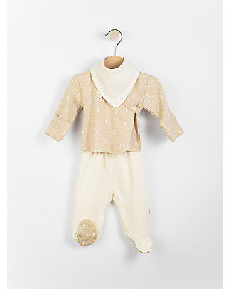Wooly Organic Baby Gift Set: Shirt, Pants, and Bib – Comes in a lovely gift box! Long Sleeves Tops