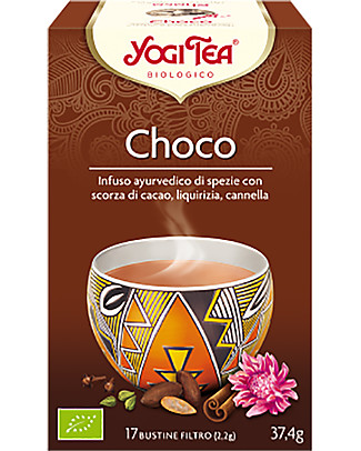 Yogi Tea Choco, Ayurvedic Infuse with Cocoa, Liquorice and Cinnamon, 17 teabags - Calming Infusions