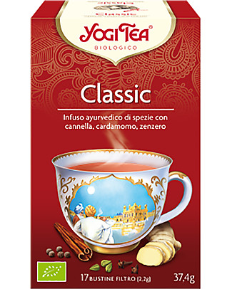 Yogi Tea  Classic, The Original Yogi Bhajan's Tea, 17 teabags - Organic. Invigorates and warms the body Infusions