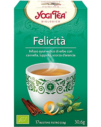 Yogi Tea Happiness, Ayurvedic Blend with Cinnamon, Hop and Orange Peel - 17 teabags Infusions