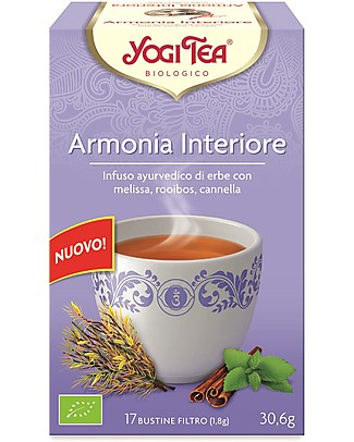 Yogi Tea  Inner Harmony, Ayurvedic Blend with Lemon Balm, Roobois, Cinnamon - 17 teabags Infusions