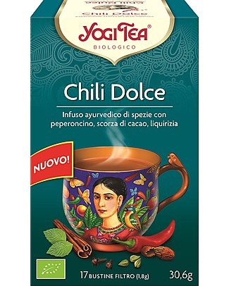 Yogi Tea Sweet Chili, Ayurvedic Blend with Chili, Cocoa Shells, Liquorice Infusions
