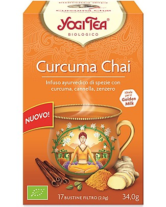 Yogi Tea  Turmeric Chai, Ayurvedic Blend with Turmeric, Cinnamon and Ginger - 17 teabags Infusions