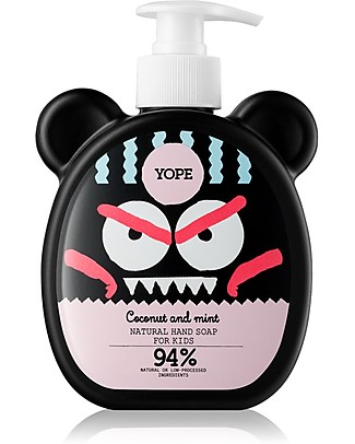 Yope Natural Hand Soap for Kids, 400 ml - Coconut and Mint Detergents