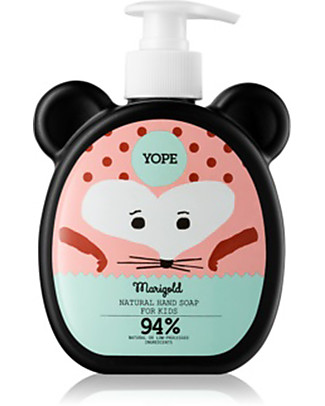 Yope Natural Hand Soap for Kids, 400 ml - Marigold Kit Toilette Baby