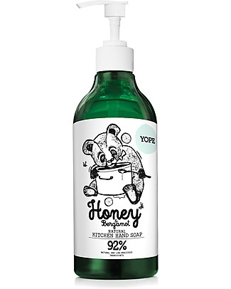 Yope Natural Kitchen Hand Soap, 500 ml - Honey and Bergamot Detergents