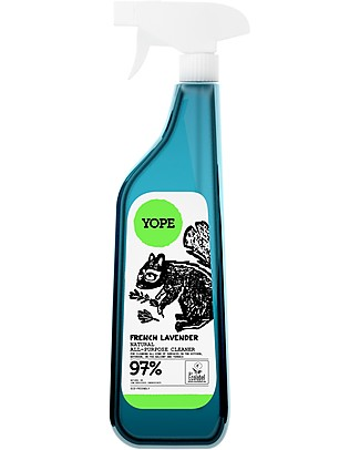 Yope Natural Universal Cleaner Spray for Kitchen, Bathroom and Terrace, 750 ml - French Lavender Spray