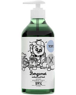 Yope Natural Washing-Up Liquid, 750 ml - Bergamot, Verbena and Basil Detergents