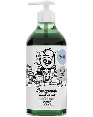 Yope Natural Washing-Up Liquid, 750 ml - Bergamot, Verbena and Basil Home Cleaning