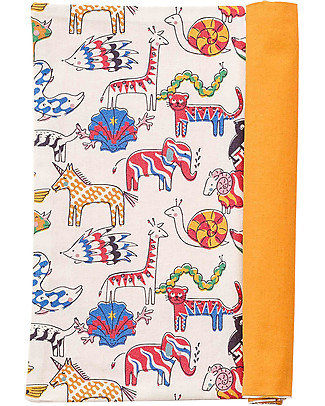 Zac 4 Kids Baby Placemat Palio Collection, Jungle with Ochre Back - 100% cotton Meal Sets