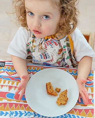 Zac 4 Kids Baby Placemat Palio Collection, Stripes with Blue Back - 100% cotton Meal Sets