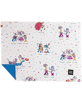 Zac 4 Kids Baby Placemat - Venice Collection, Cobalt/Mask - 100% cotton Meal Sets