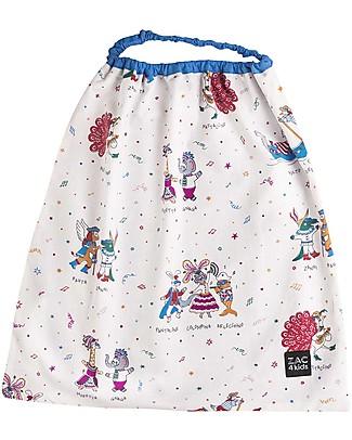 Zac 4 Kids Bib with Elastic Neck - Collezione Venezia, Cobalt/Mask - 100% Cotton (Perfect for Nursery) Pullover Bibs