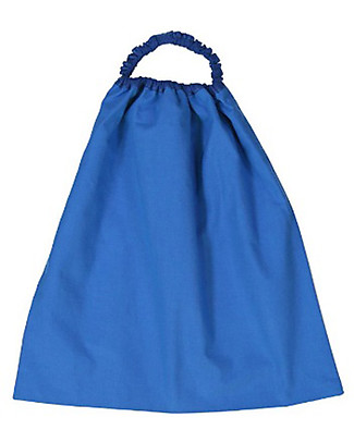 Zac 4 Kids Bib with Elastic Neck Palio Collection, Blue with Panther - 100% Cotton (Perfect for Nursery) Pullover Bibs