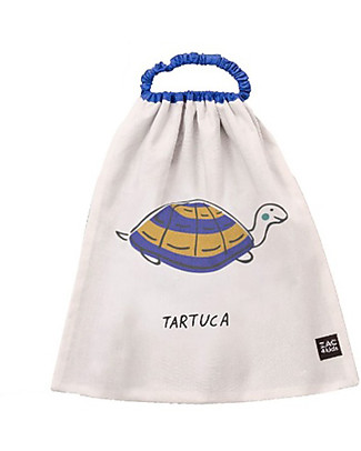 Zac 4 Kids Bib with Elastic Neck Palio Collection, Blue with Turtle - 100% Cotton (Perfect for Nursery) Pullover Bibs