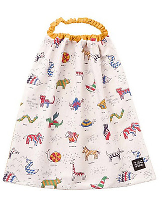 Zac 4 Kids Bib with Elastic Neck Palio Collection, Iconic Ochre - 100% Cotton (Perfect for Nursery) Pullover Bibs