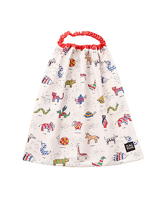Zac 4 Kids Bib with Elastic Neck Palio Collection, Iconic Red - 100% Cotton (Perfect for Nursery) Pullover Bibs