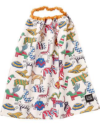 Zac 4 Kids Bib with Elastic Neck Palio Collection, Jungle Ochre - 100% Cotton (Perfect for Nursery) Pullover Bibs