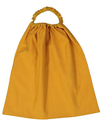 Zac 4 Kids Bib with Elastic Neck Palio Collection, Ochre with Leocorno - 100% Cotton (Perfect for Nursery) Pullover Bibs