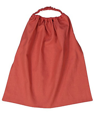 Zac 4 Kids Bib with Elastic Neck Palio Collection, Red with She-Wolf - 100% Cotton (Perfect for Nursery) Pullover Bibs