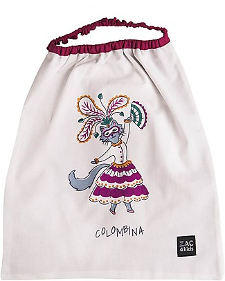Zac 4 Kids Bib with Elastic Neck - Venice Collection, Magenta/Colombina - 100% Cotton (Perfect for Nursery) Pullover Bibs