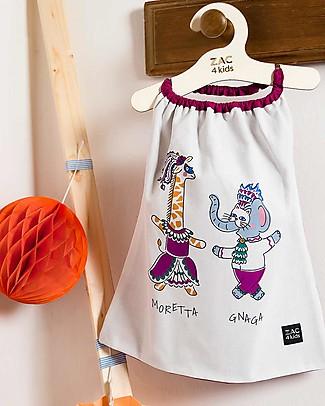 Zac 4 Kids Bib with Elastic Neck - Venice Collection, Magenta/Moretta and Gnaga - 100% Cotton (Perfect for Nursery) Pullover Bibs