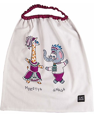 Zac 4 Kids Bib with Elastic Neck - Venice Collection, Magenta/Moretta and Gnaga - 100% Cotton (Perfect for Nursery) Pullover Bibs
