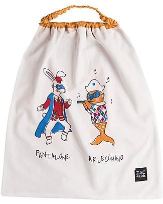 Zac 4 Kids Bib with Elastic Neck - Venice Collection, Saffron/Pantalone and Arlecchino - 100% Cotton (Perfect for Nursery) Pullover Bibs