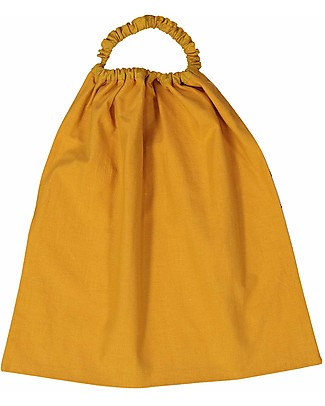 Zac 4 Kids Bib with Elastic Neck - Venice Collection, Saffron/Party - 100% Cotton (Perfect for Nursery) Pullover Bibs