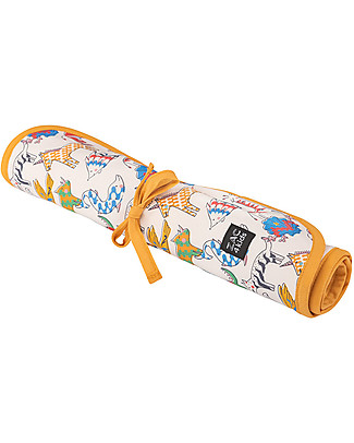 Zac 4 Kids Changing Pad, Siena Collection - Ocra Jungle Travel Changing Mats