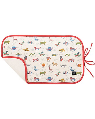 Zac 4 Kids Changing Pad, Siena Collection - Red Iconic Travel Changing Mats