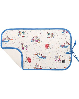 Zac 4 Kids Changing Pad, Venice Collection - Blue Mask Travel Changing Mats