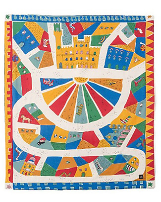 Zac 4 Kids Child Play Mat Palio Collection, Campo di Siena, Encourage Creative Games - 100% cotton Carpets