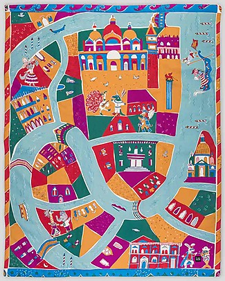 Zac 4 Kids Child Play Mat Venice - Encourage Creative Games - 100% cotton Carpets