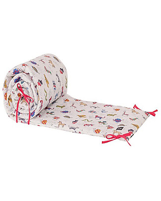 Zac 4 Kids Cot Bed Bumper Palio Collection, Iconic Print - 100% Cotton  Bumpers
