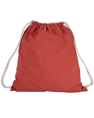 Zac 4 Kids Drawstring Bag Portrait Palio Collection, Red with Dragon - Perfect for pre-schoolers! Small Backpacks
