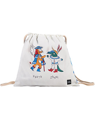 Zac 4 Kids Drawstring Bag Portrait - Venice Collection, Cobalt/Bauta and Zanni - Perfect for pre-schoolers! Small Backpacks