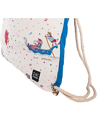 Zac 4 Kids Drawstring Bag - Venice Collection, Cobalt/Mask - Perfect for pre-schoolers! Small Backpacks
