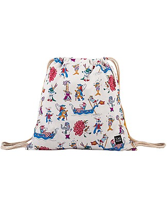 Zac 4 Kids Drawstring Bag - Venice Collection, Saffron/Party - Perfect for pre-schoolers! null