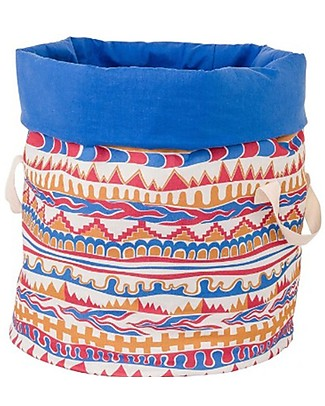 Zac 4 Kids Toy Bag Palio Collection, Stripes with Blue Inner, Made in Italy  - 100% Cotton Toy Storage Boxes