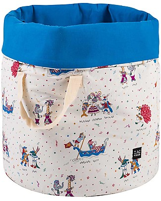 Zac 4 Kids Toy Bag Venice Collection, Cobalt/Mask - Made in Italy  - 100% Cotton Toy Storage Boxes