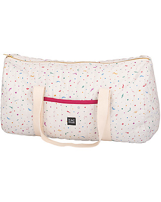 Zac 4 Kids Weekend Bag, Venice Collection - Purple Confetti Diaper Changing Bags & Accessories