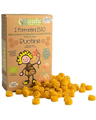 Zero Tre Organic Ruotine with Organic Purée of Pumpkin - 250gr Baby Cereal